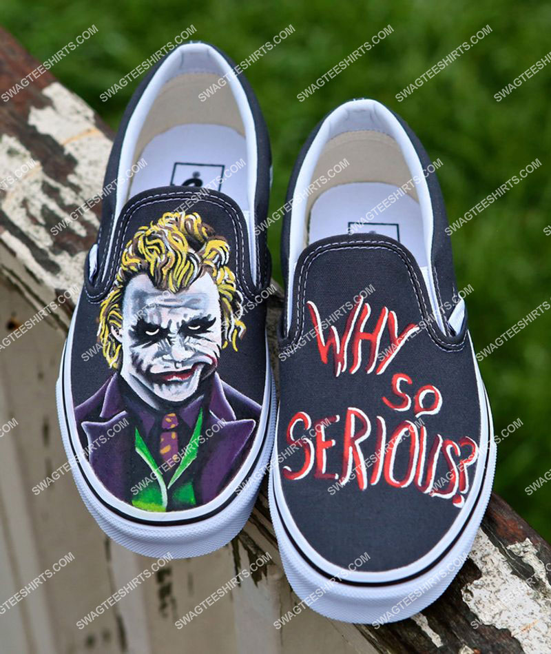 why so serious the joker all over print slip on shoes 1(1)