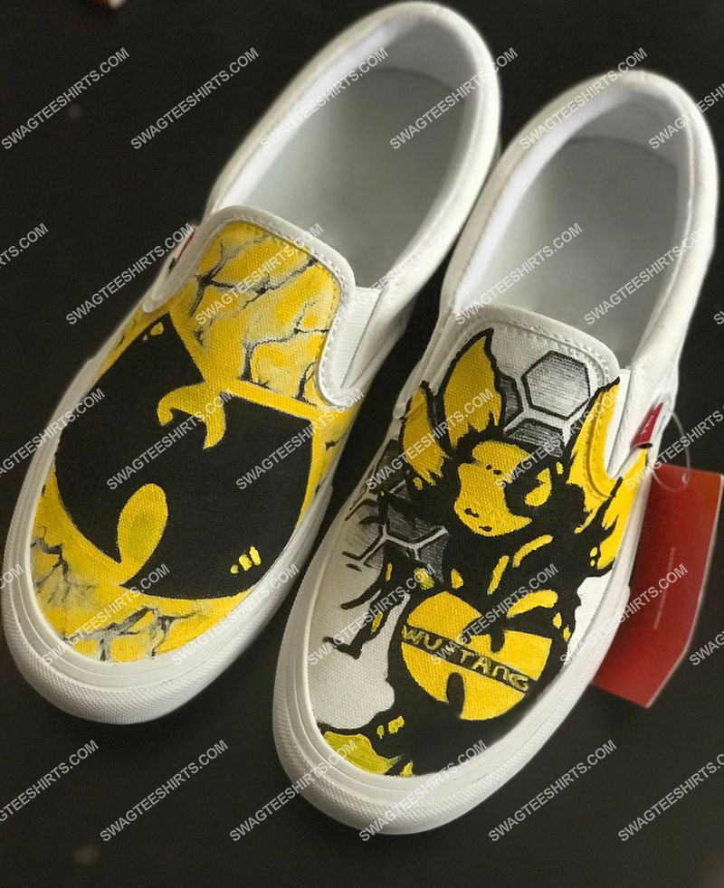 wu-tang clan all over print slip on shoes 1(1)