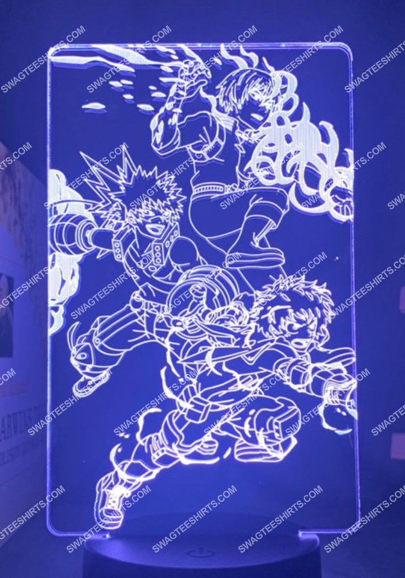 Bakugou katsuki midoriya izuku todoroki shouto my hero academia anime 3d night light led 5(1)