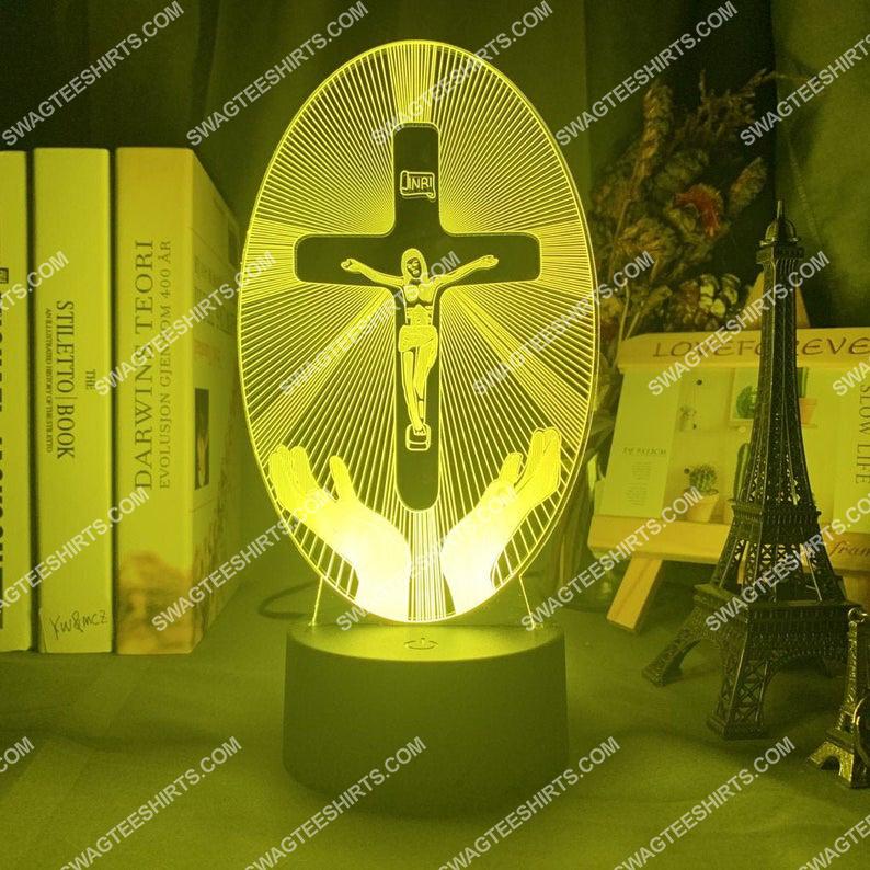 Christian Jesus Cross 3d night light led 2(1)