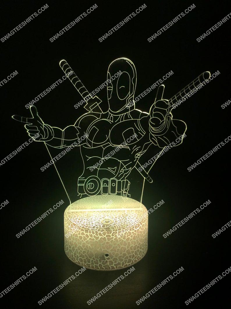 Deadpool marvel comics character 3d night light led 6(1)