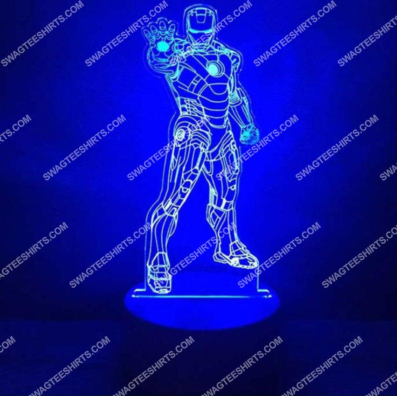 Marvel avengers hero iron man 3d night light led 2(1)