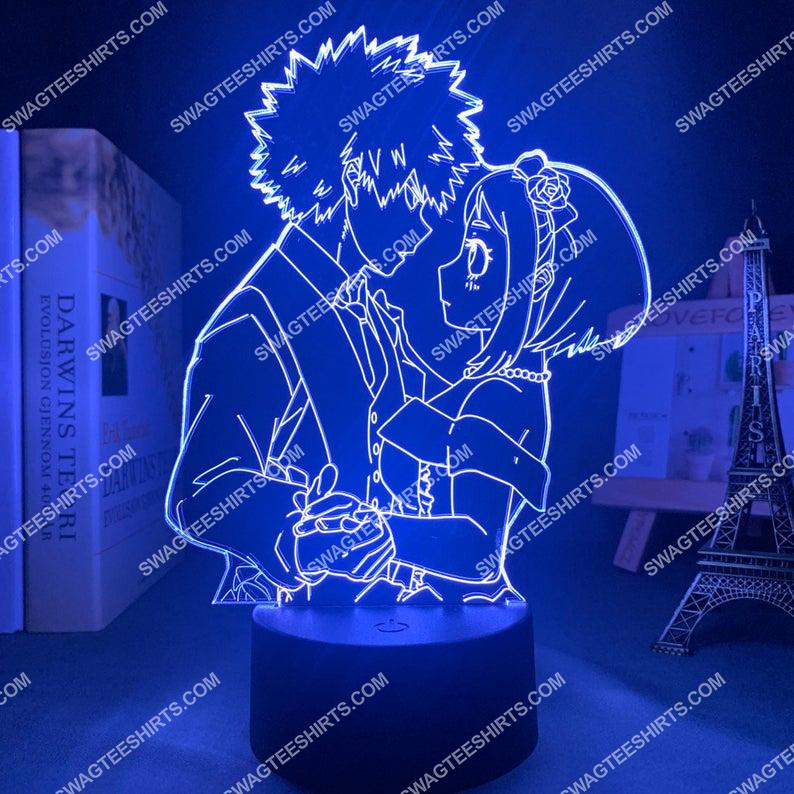 My hero academia katsuki bakugou and uraraka ochako anime 3d night light led 4(1)