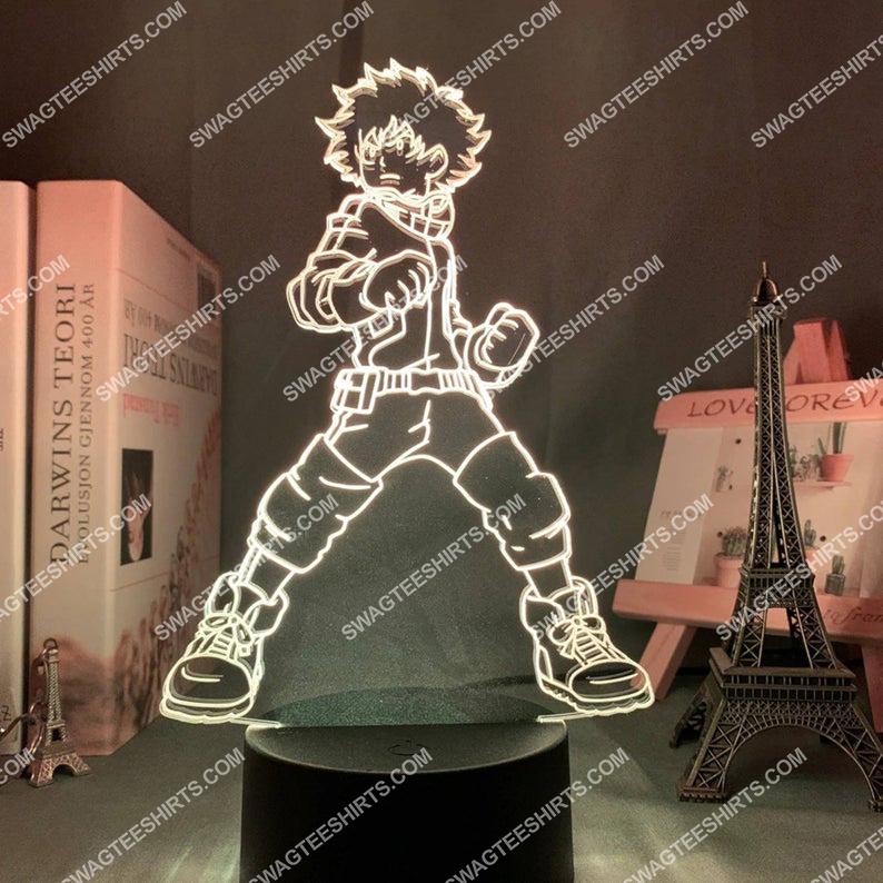 My hero academia midoriya izuku anime 3d night light led 3(1)