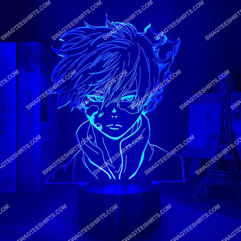 My hero academia shoto todoroki anime 3d night light led 7(1)