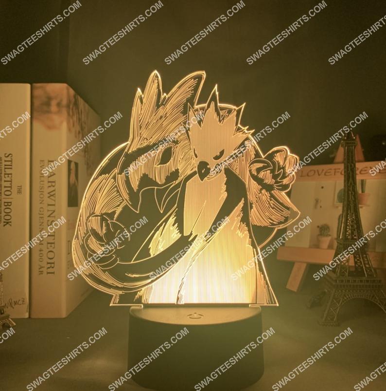 My hero academia tokoyami fumikage figure 3d night light led 2(1)