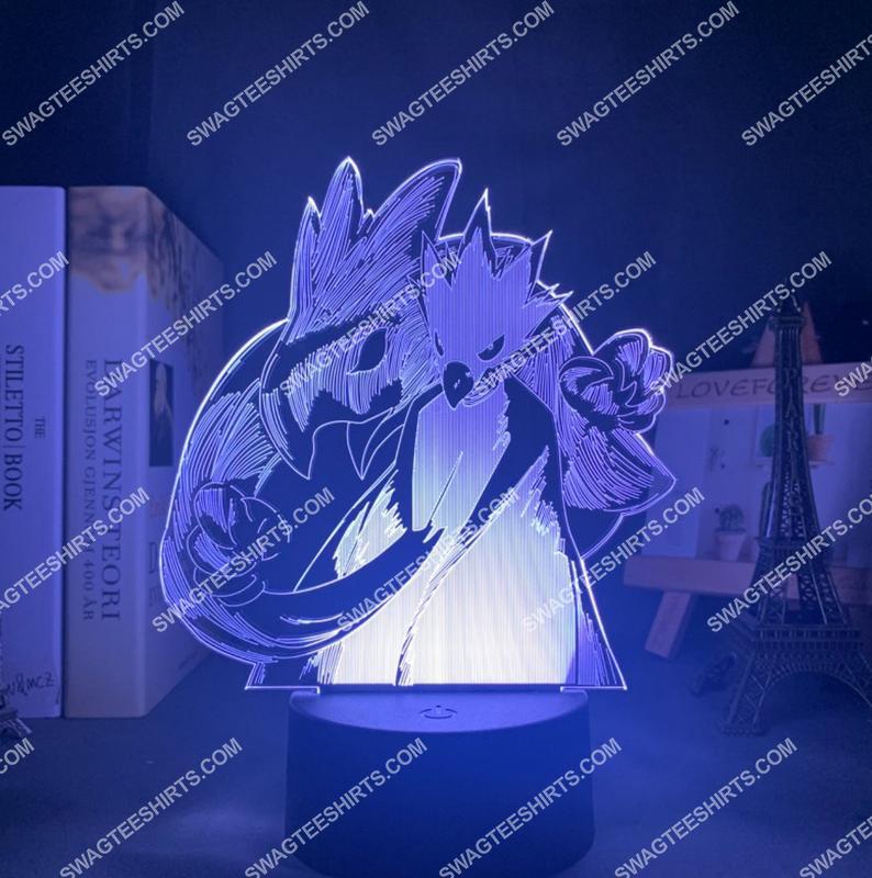 My hero academia tokoyami fumikage figure 3d night light led 5(1)