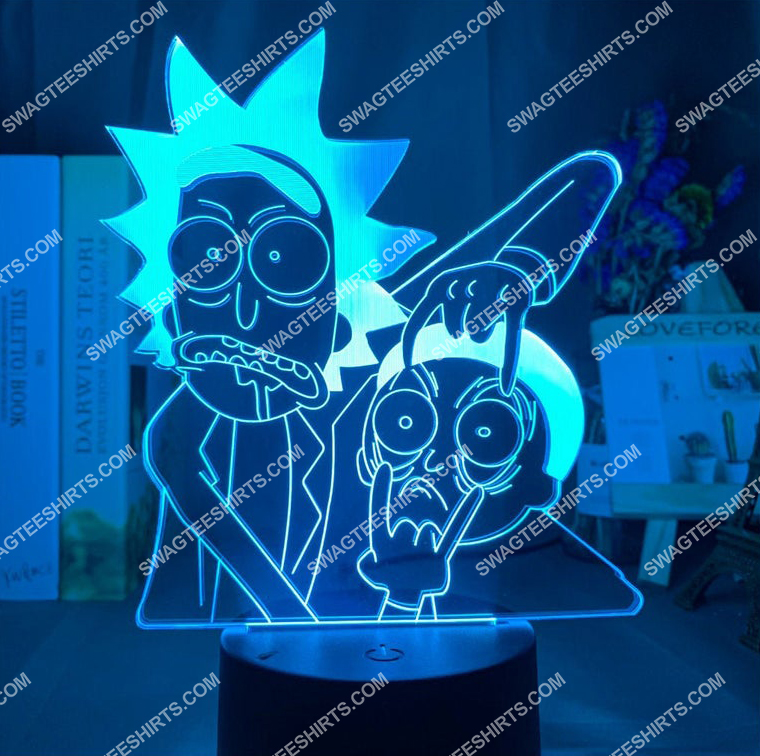Rick and morty tv show 3d night light led 2(1)