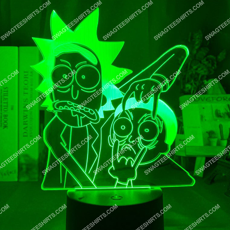 Rick and morty tv show 3d night light led 3(1)