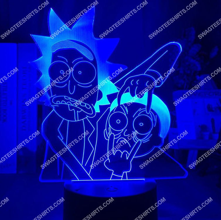 Rick and morty tv show 3d night light led 4(1)