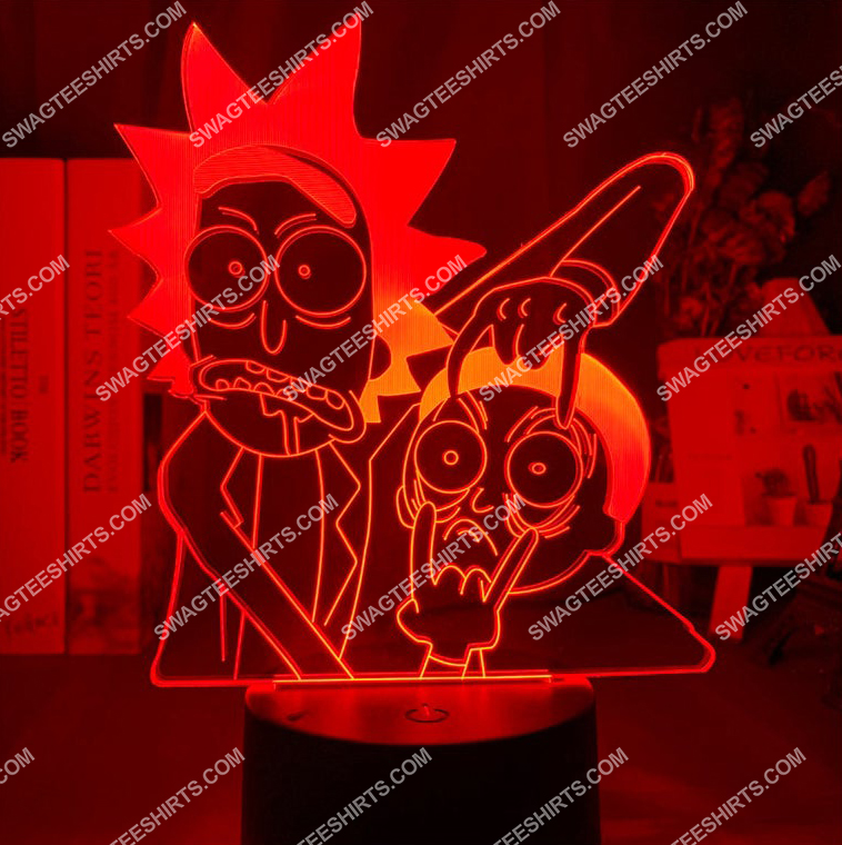 Rick and morty tv show 3d night light led 6(1)