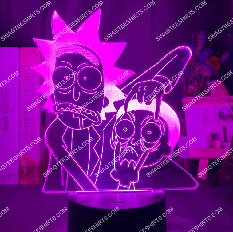 Rick and morty tv show 3d night light led 7(1)