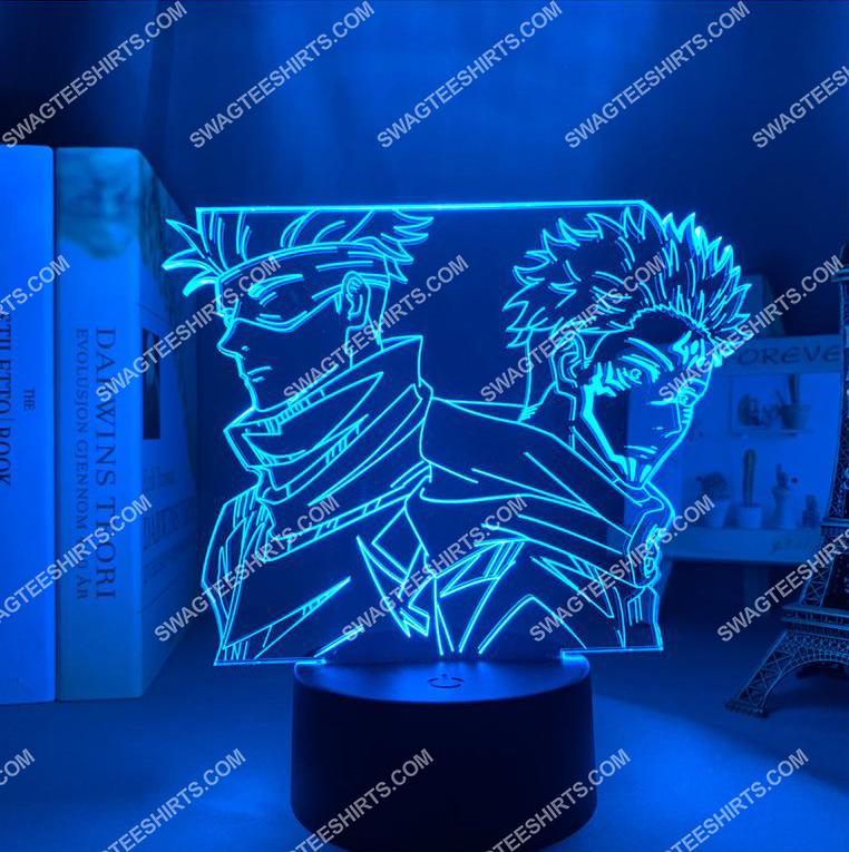 Satoru gojo and yuji itadori jujutsu kaisen anime 3d night light led 3(1)