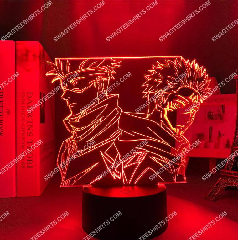 Satoru gojo and yuji itadori jujutsu kaisen anime 3d night light led 5(1)