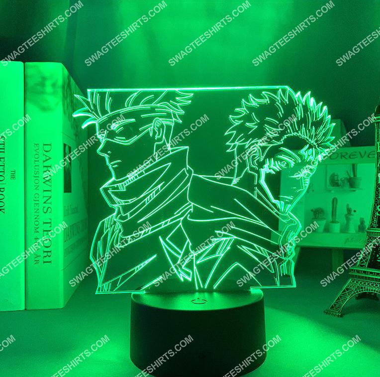 Satoru gojo and yuji itadori jujutsu kaisen anime 3d night light led 6(1)