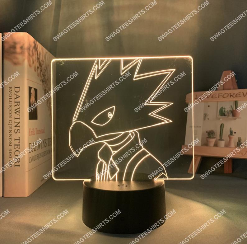 Tokoyami fumikage my hero academia anime 3d night light led 3(1)