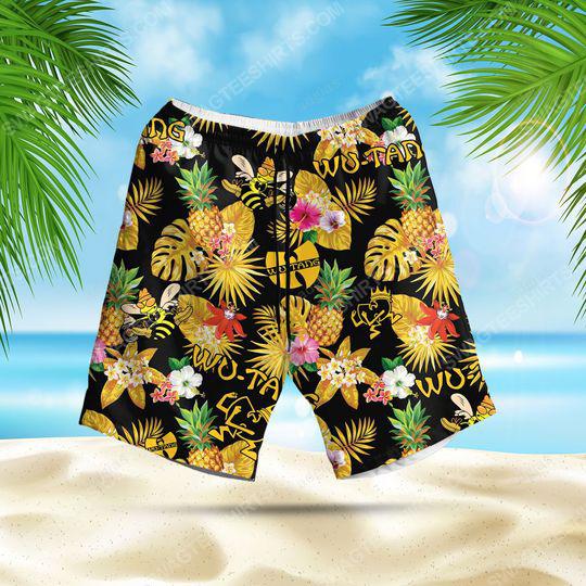 Tropical american hip hop wu tang clan summer party beach short 1