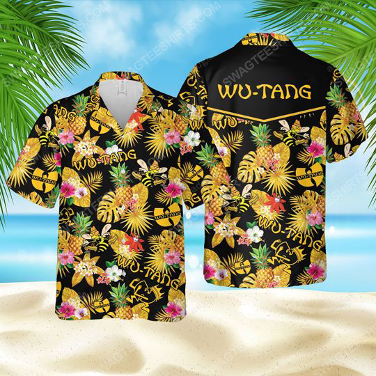 Tropical american hip hop wu tang clan summer party hawaiian shirt 1