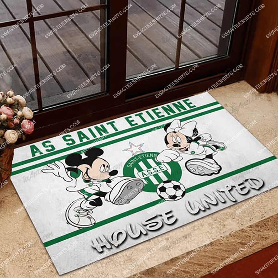 as saint etienne house united mickey mouse and minnie mouse doormat 1 - Copy