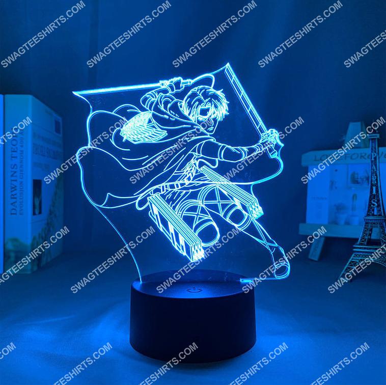 attack on titan levi ackerman anime 3d night light led 2(1)