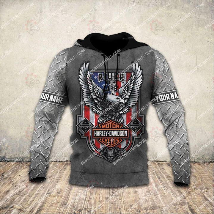 custom name harley davidson motorcycles ride or die full printing hoodie 1