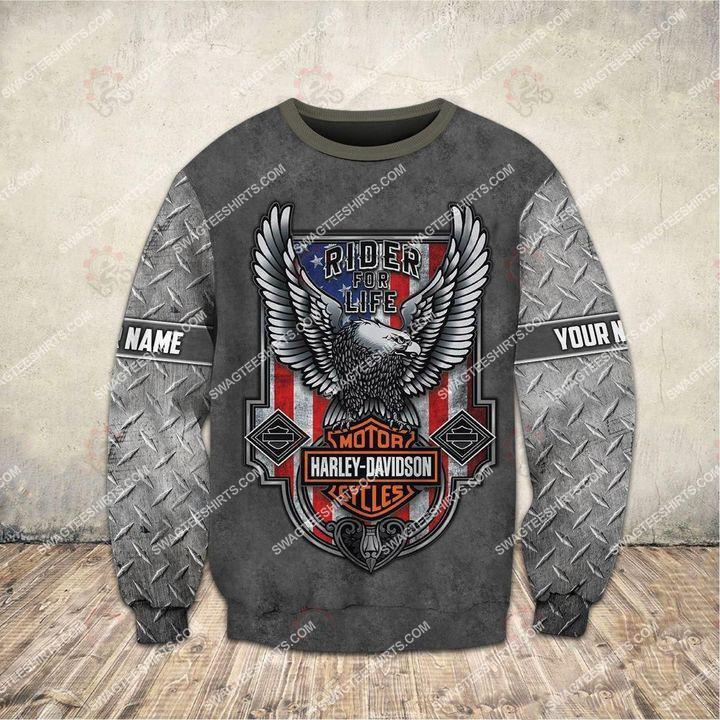 custom name harley davidson motorcycles ride or die full printing sweatshirt 1