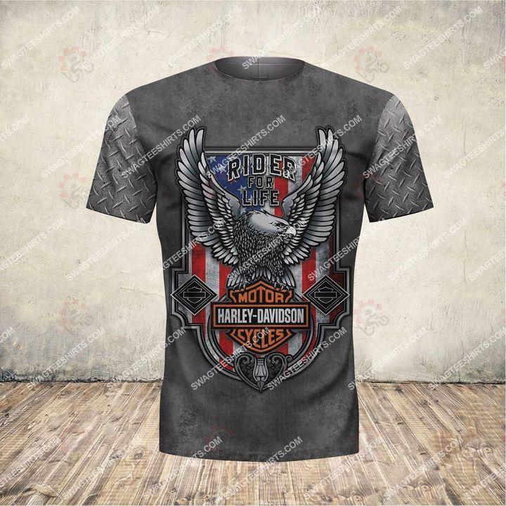 custom name harley davidson motorcycles ride or die full printing tshirt 1