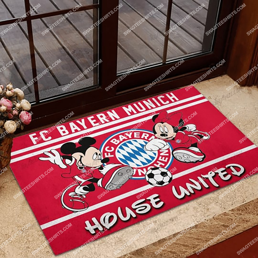 fc bayern munchen house united mickey mouse and minnie mouse doormat 1