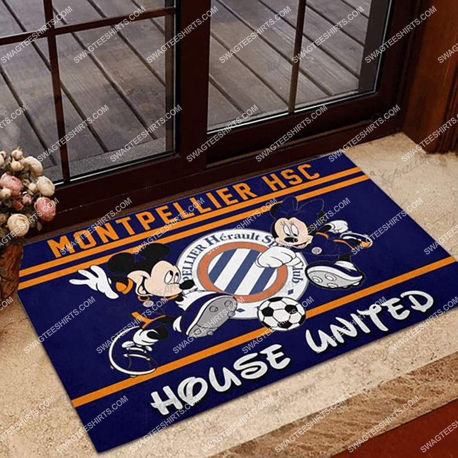 montpellier hsc house united mickey mouse and minnie mouse doormat 1 - Copy