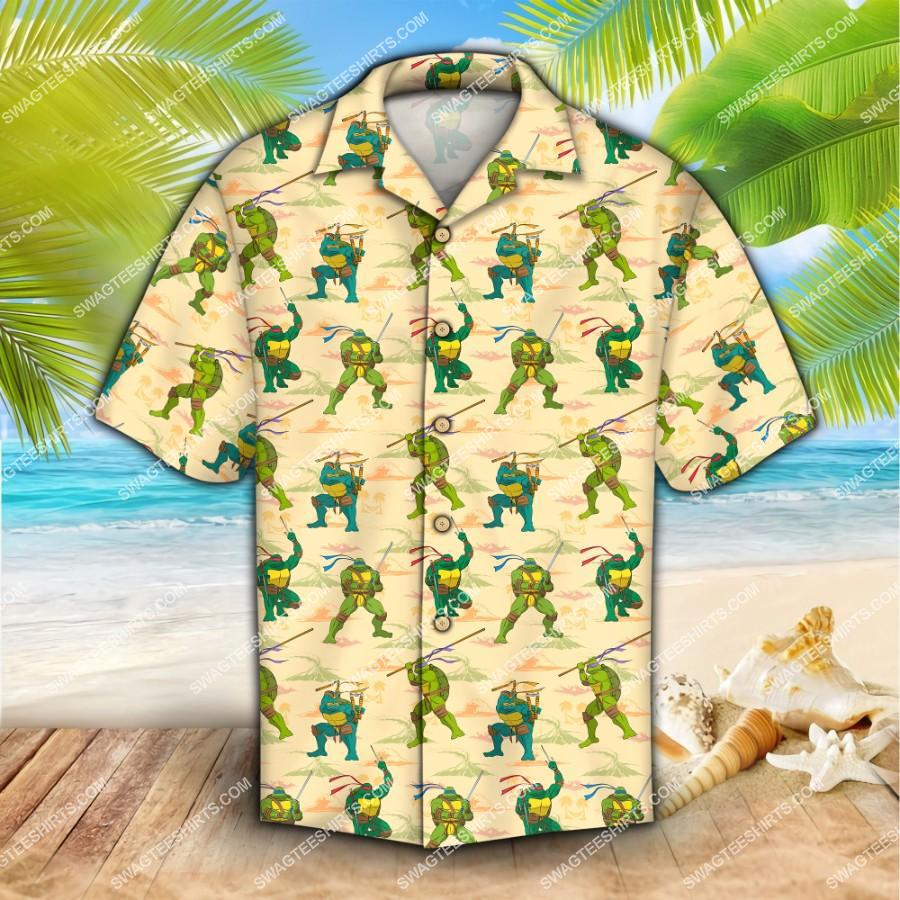 teenage mutant ninja turtles all over print hawaiian shirt 1