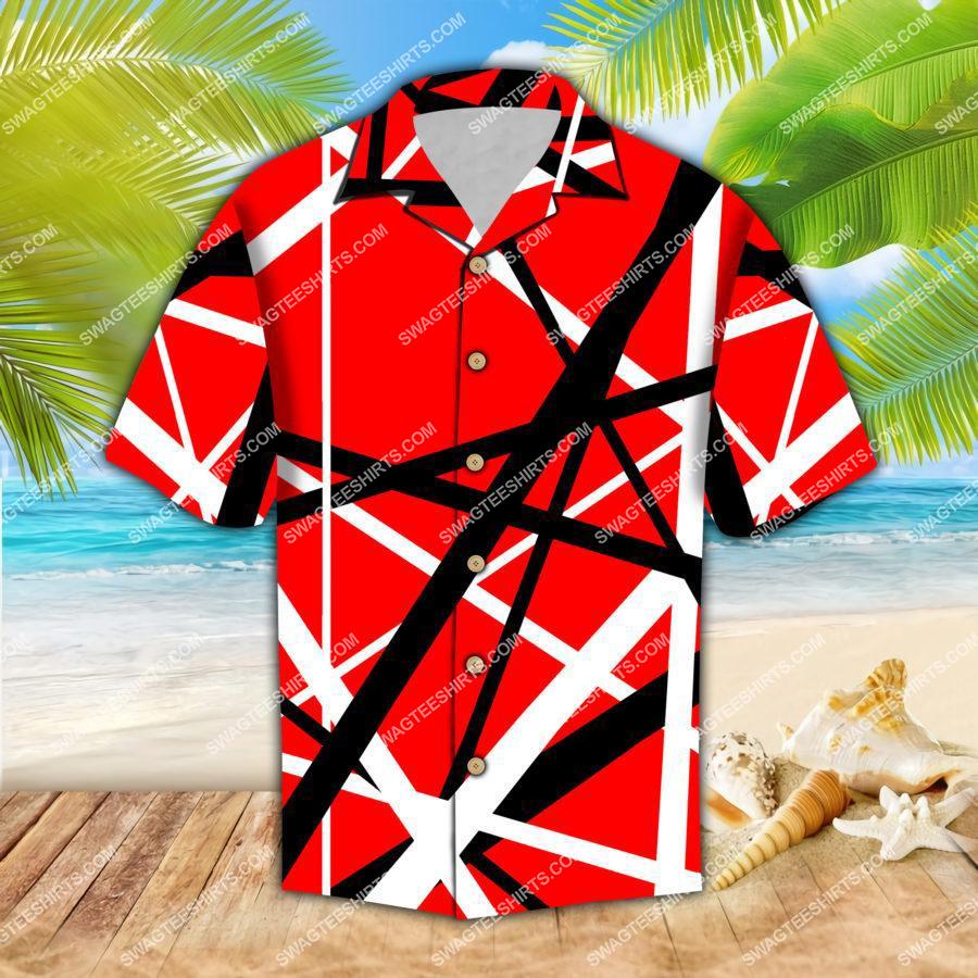 the van halen band all over print hawaiian shirt 1