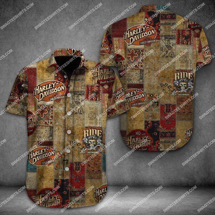 vintage harley davidson ride or die full printing hawaiian shirt 1