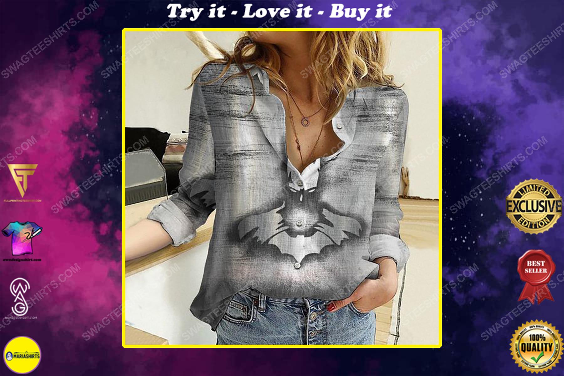 Batman metallic fully printed poly cotton casual shirt
