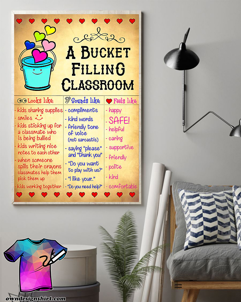A bucket filling classroom poster