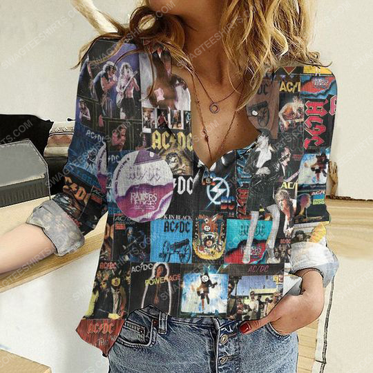 AC DC cover album fully printed poly cotton casual shirt 2(1) - Copy