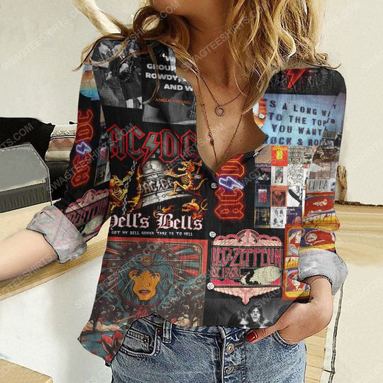 AC DC hells bells fully printed poly cotton casual shirt 2(1) - Copy