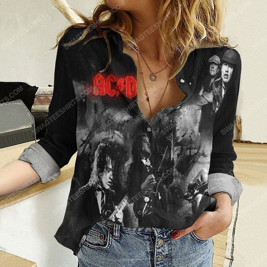 AC DC music band fully printed poly cotton casual shirt 2(1) - Copy