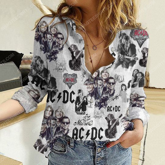 AC DC rock band fully printed poly cotton casual shirt 2(1) - Copy