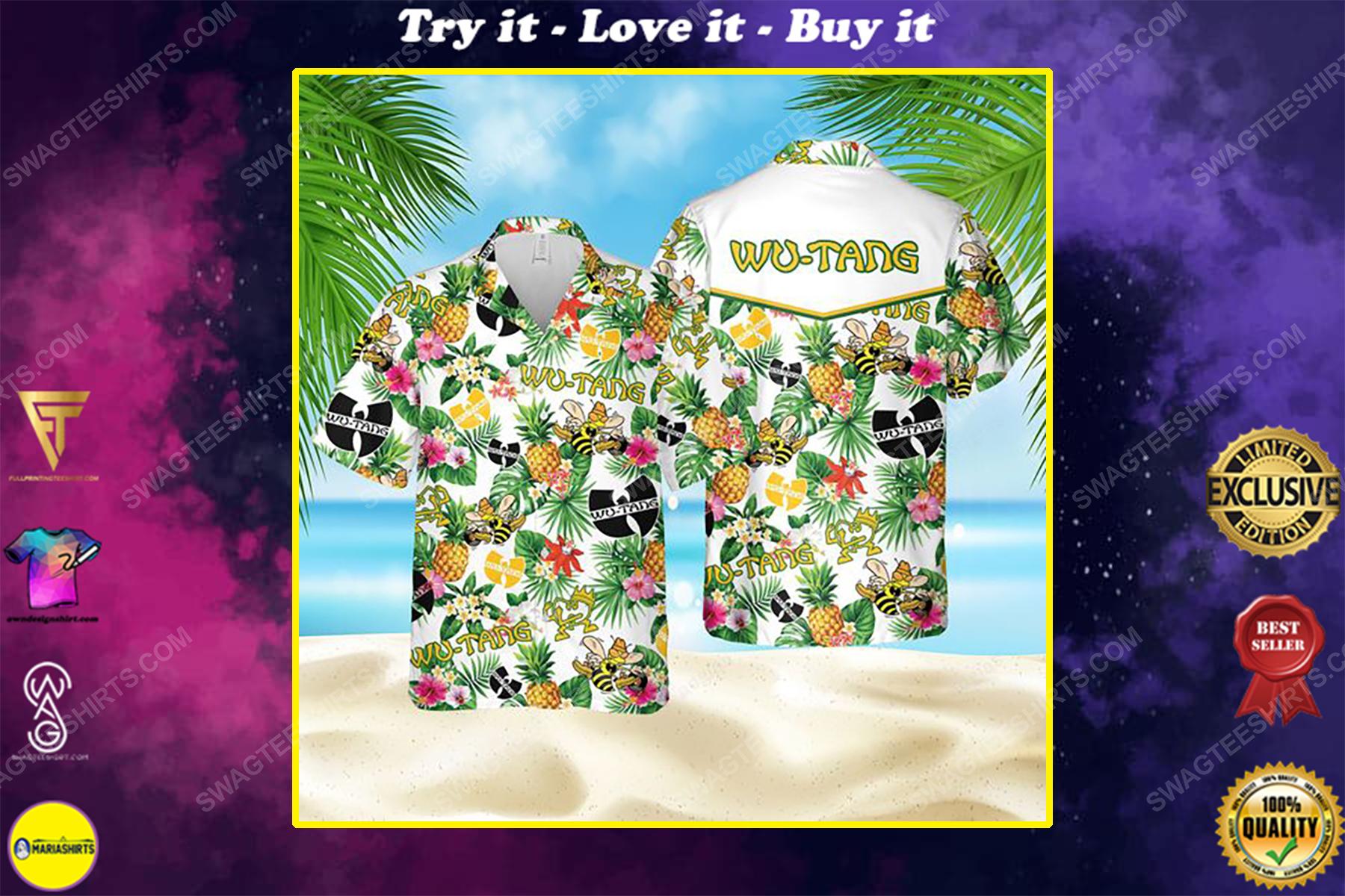 American hip hop wu tang clan summer vacation hawaiian shirt