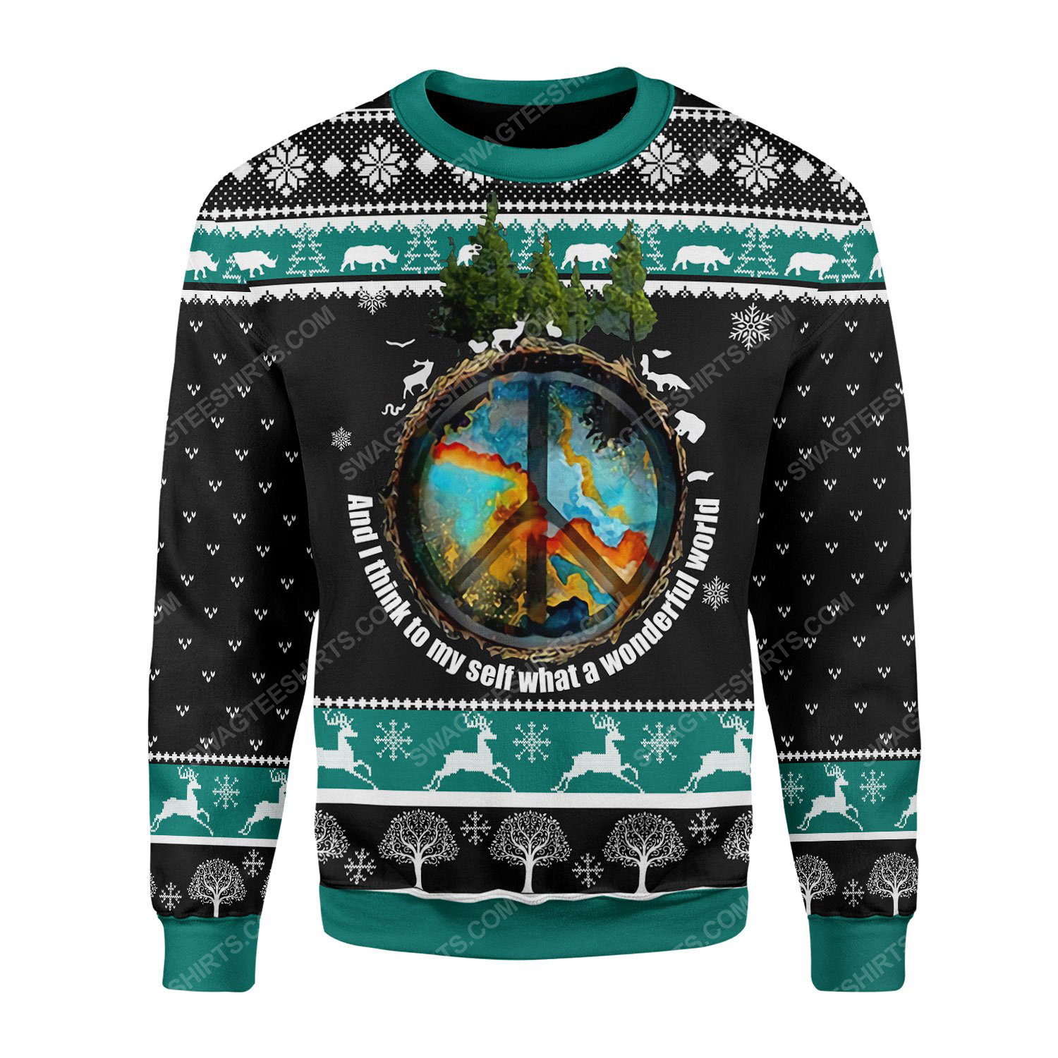 And i think to myself what a wonderful world ugly christmas sweater 2(1) - Copy