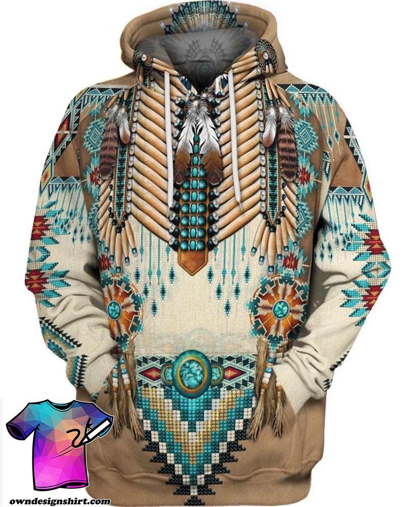 Apache warrior native american all over print hoodie