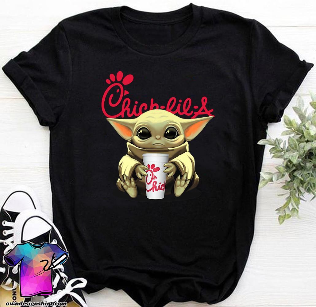 Baby yoda hug chick-fil-a shirt
