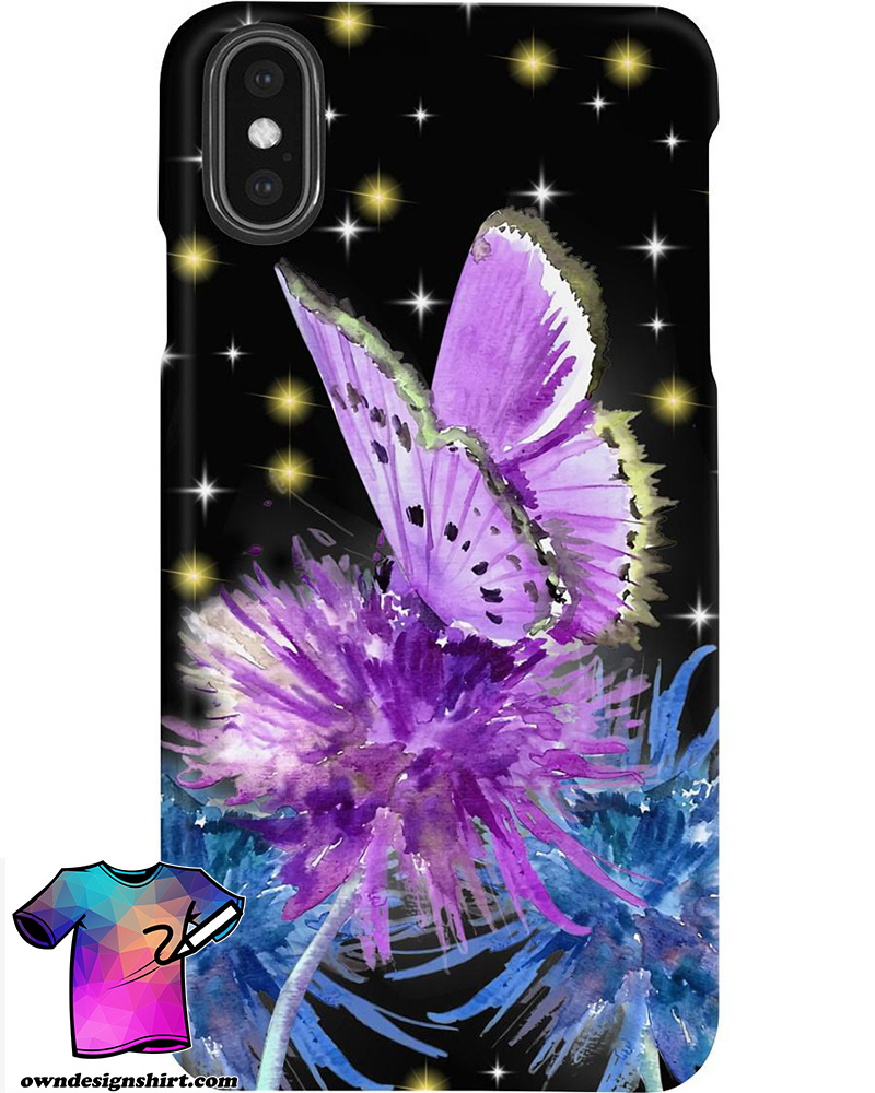 Butterfly and dandelion phone case