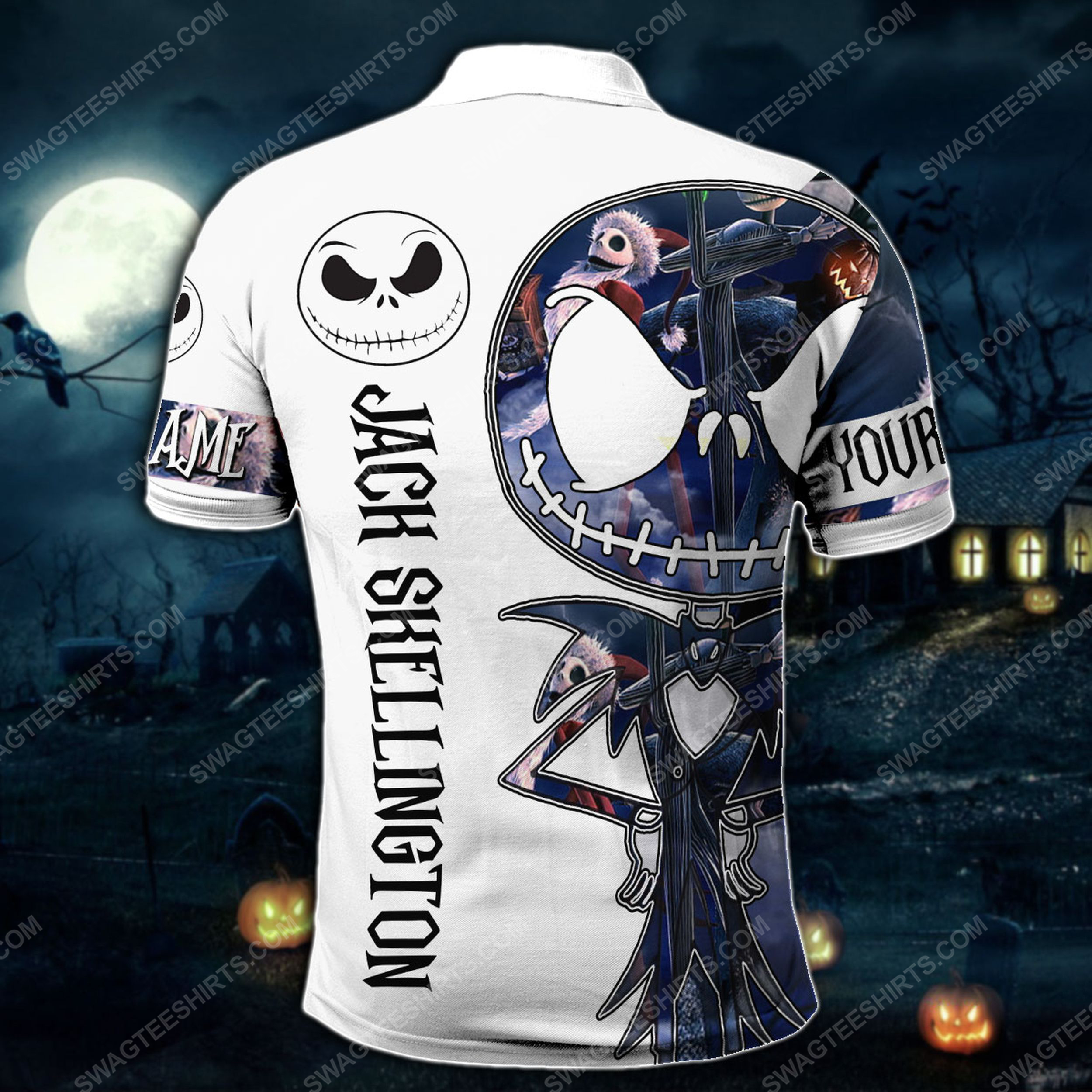 Custom jack skellington the nightmare before christmas all over print polo shirt 1(1)
