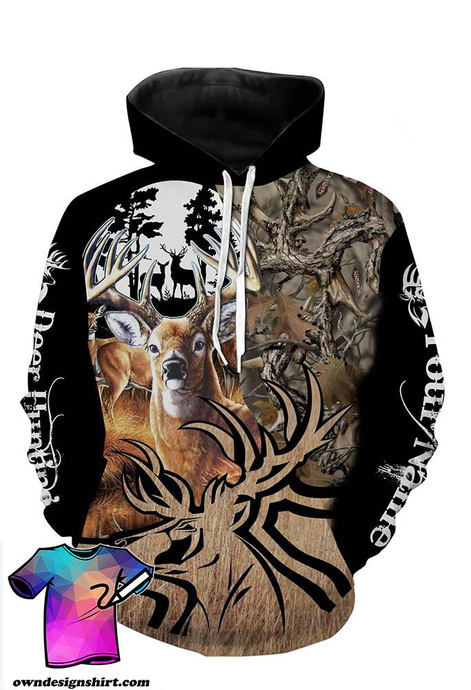 Deer hunting personalized full printing hoodie