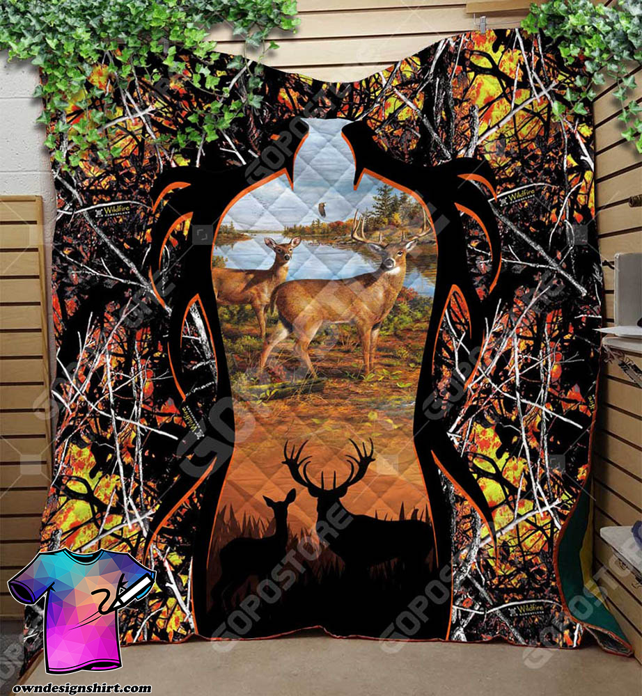 Deer hunting premium quilt