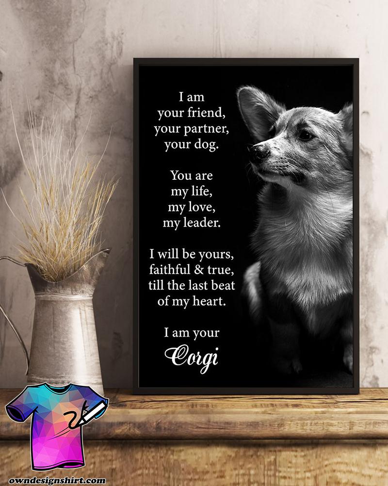 Dog corgi i am your friend poster