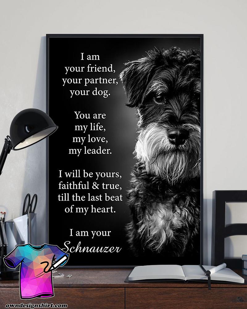 Dog schnauzer i am your friend poster