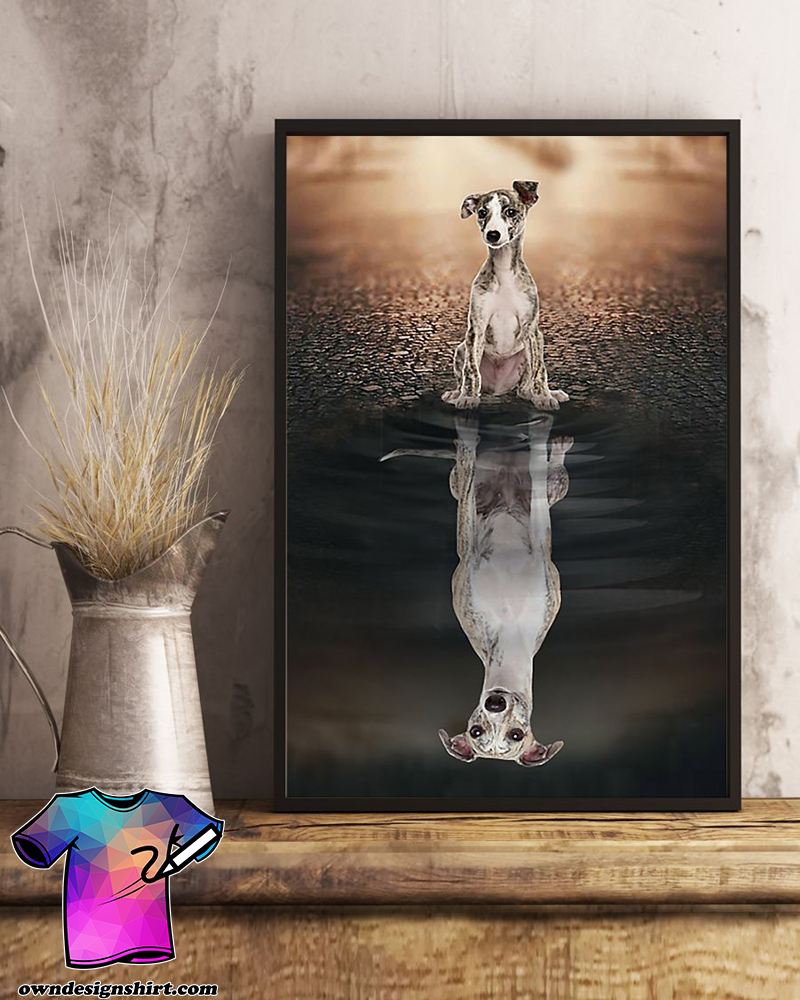 Dog whippet believe in yourself poster