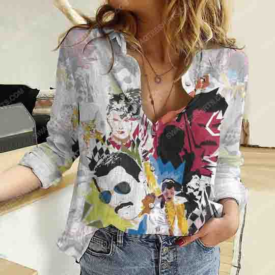 Freddie mercury fully printed poly cotton casual shirt 2(1) - Copy